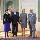 17. März 2015: Der Staatsbesuch des niederländischen Königspaares in Dänemark hat begonnen. Königin Margrethe, König Willem-Alexander, Königin Maxima und Prinzgemahl Henrik sind royale Gäste auf Schloss Fredensborg in Dänemark.