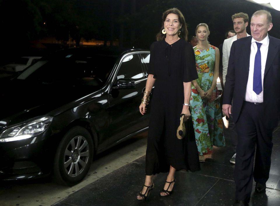 31. Oktober 2015: Prinzessin Caroline, Beatrice Borromeo Casiraghi und Pierre Casiraghi sind auf dem Weg ins National Theatre in Havana auf Kuba, um eine Ballett-Gruppe aus Monaco zu sehen.
