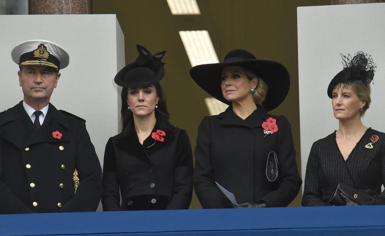 """8. November 2015: Herzogin Catherine, Königin Máxima und Gräfin Sophie von Wessex nehmen an der """"Remembrance Sunday Ceremony"""" in London teil."""