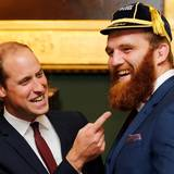 21. September 2015: Prinz William empfängt das Rugby Team aus Wales in London.