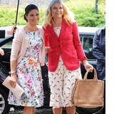 """1. Juni 2015: Kronprinzessin Victoria von Schweden und Kronprinzessin Mette-Marit von Norwegen nehmen an der Konferenz """"EAT"""" im Stockholmer Food Forum teil."""