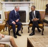 19. März 2015: Prinz Charles und Camilla sind nach Amerika gereist und treffen sich im Oval Office des Weißen Hauses mit Präsident Barack Obama.