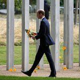 7. Juli 2015: Prinz William gedenkt der Opfer des Terroranschlags von vor zehn Jahren in London und legt einen Kranz für die Opfer nieder.