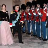 7. Januar 2015: Prinzessin Mary und Prinz Frederik kommen zum zweiten Neujahrsempfang nach Schloss Christiansborg in Kopenhagen.