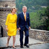 23. Juni 2015: Königin Mathilde und König Philippe von Belgien sind gerade auf Staatsreise in China. Natürlich darf der Besuch an der chinesischen Mauer nicht fehlen.