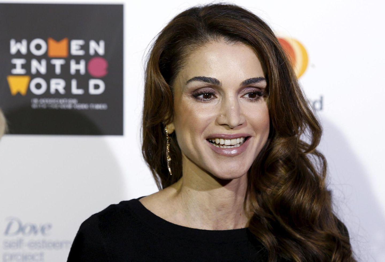"""8. Oktober 2015: Königin rania von Jordanien besucht das """"Women in the World""""-Gipfeltreffen in London."""