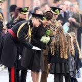 17. März 2015: Zur Feier des Nationaltages der Iren und zum Gedenken an deren Schutzpatron St. Patrick, nehmen Prinz William und Herzogin Kate an der traditionellen Parade teil.