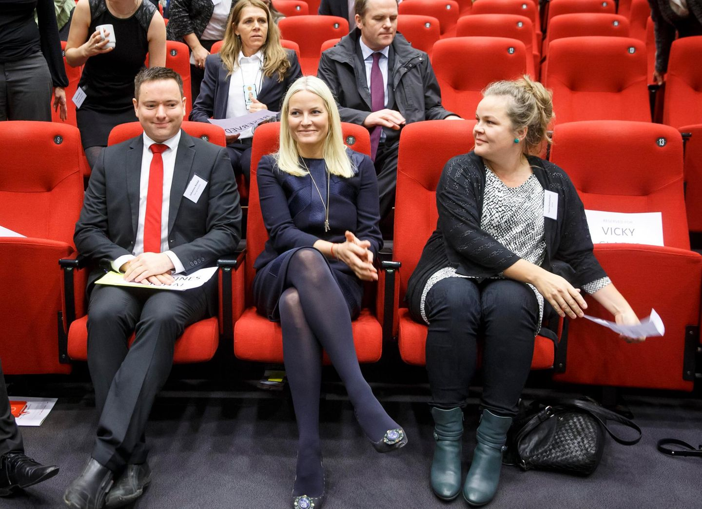 "3. November 2015: Prinzessin Mette-Marit nimmt an der nationalen Konferenz ""HIV15"" in Oslo teil."