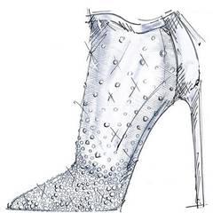 Das Cinderella-Motiv hat für Designer Stuart Weitzman im Jahr 2015 eine zeitlose Anmutung, die durch seinen durchscheinenden, mit Diamanten besetzten Bootie ausgedrückt werden soll.