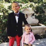 11. Oktober 2015  Stolz postet Reese Witherspoon dieses Foto von ihren herausgeputzten Söhnen Deacon und Tennessee bevor es zum Gottesdienst in die Kirche geht.