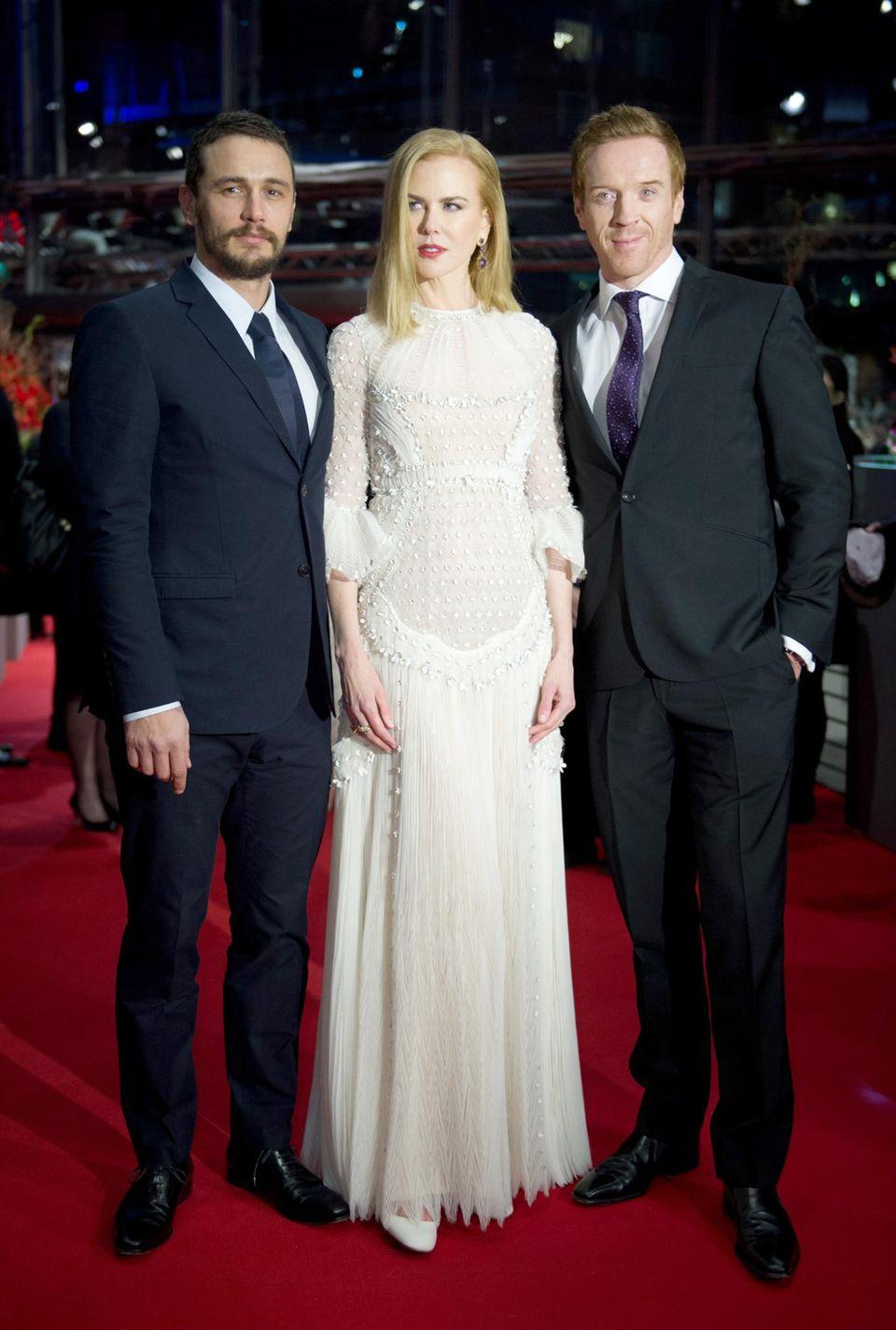 """Zusammen mit ihren Schauspielkollegen James Franco und Damian Lewis stellt Nicole Kidman ihren Film """"Queen Of The Desert"""" vor."""