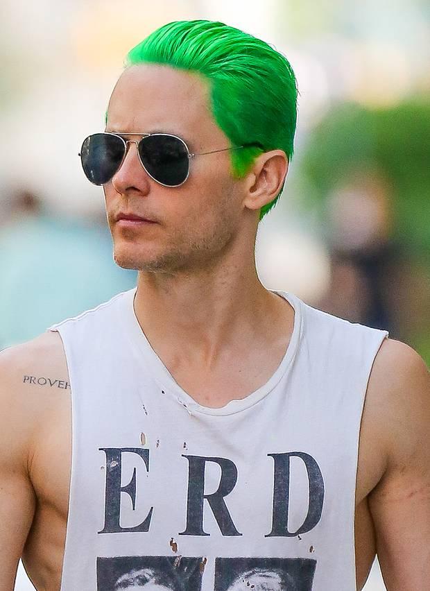 Haare farben mit grun