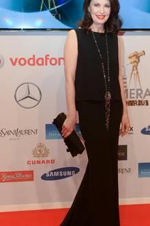 Iris Berben ist zur Verleihung der Goldenen Kamera in die Hansestadt gekommen. Ausgestrahlt wird die Sendung am 28. Februar 2015 um 20.15 Uhr im ZDF.