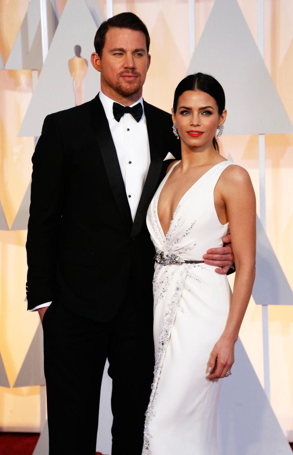"""Channing Tatum und Jenna Dewan-Tatum kommen gemeinsam zu den 87. """"Academy Awards""""."""