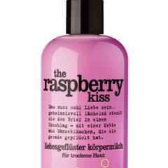 """Fruchtiger Frischekick:  """"The Raspberry Kiss""""-Körpermilch von Treaclemoon, 350 ml, ca. 4 Euro"""