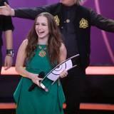 """""""GZSZ""""-Schauspielerin Senta-Sofia Delliponti kann auch Musik: Unter dem Künstlernamen """"Oonagh"""" schnappt sie sich den Preis als beste Künstlerin im Genre Rock/Pop und wird auch noch als bester Newcomer ausgezeichnet."""