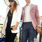 Aber sorry, Mädels... Milos ist leider schon vergeben! Zur Hochzeit seiner Schwester Ana in Venedig kam er in Begleitung seiner hübschen Freundin.