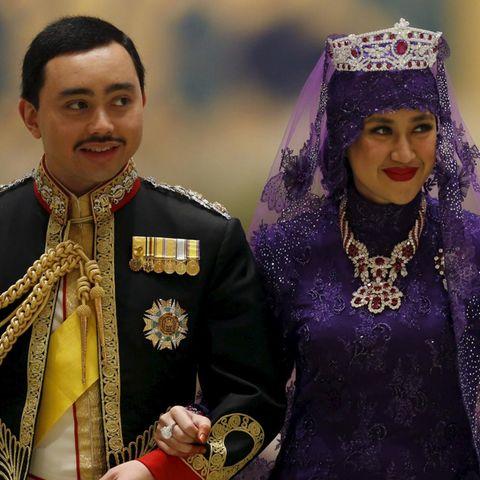 Prince Abdul Malik und Dayangku Raabi'atul 'Adawiyyah Pengiran Haji Bolkiah