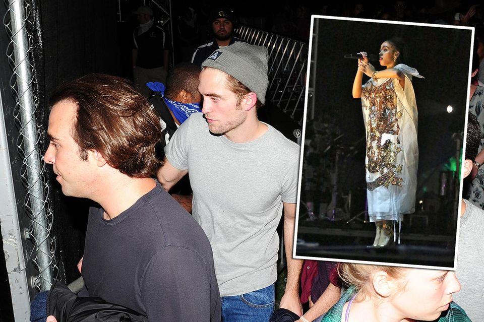 Robert Pattinson lauscht dem Auftritt seiner angeblich Verlobten FKA Twigs.