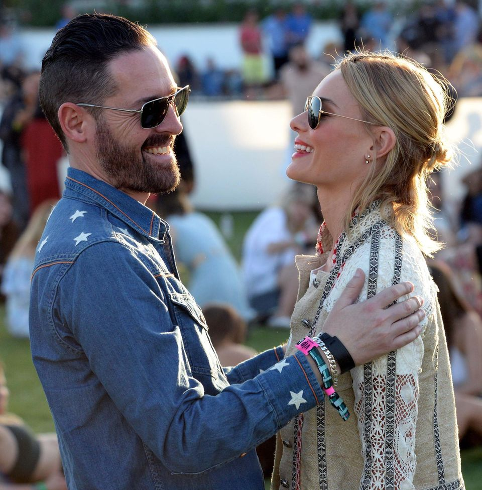 Auch Michael Polish und Kate Bosworth lassen sich das Musik-Spektakel nicht entgehen.