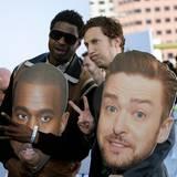 """Derek Gaines (l) und David Magidoff sind die Gastgeber der MTV-Show """"Broke A$$ Game Show"""" und denken, sie können sich als Kanye West und Justin Timberlake über den roten Teppich schmuggeln."""