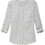 Ärmel hochkrempeln für den Lässig-Look: Hemdbluse von Street One, ca. 40 Euro