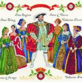 DMC Kit 3403 - Henry VIII Ehefrauen  Handarbeiten zur Beruhigung? Geht immer. Eine echte Herausforderung ist dieses Kreuzstichset zum Thema Henry VIII. und seine Ehefrauen. Genau, das war der alte englische Monarch, der erst von seiner sechsten Frau überlebt wurde (die Kreuzstichdame in Lila, Gold und Rot ist es). Das Set gibt es in Onlineshops für Handarbeitsdinge für um die 40 Euro.