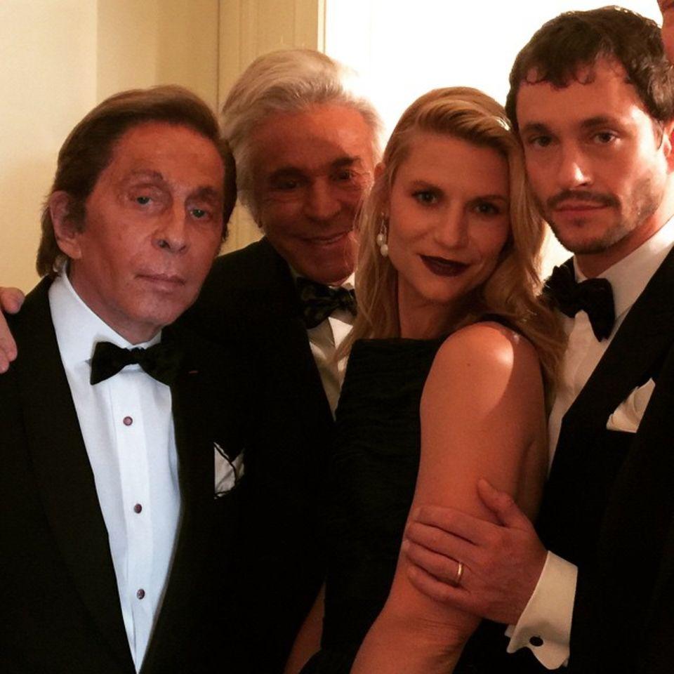 Valentino, Giancarlo Giammetti, Claire Danes und Hugh Dancy