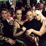 Justin Bieber, Cara Delevingne, Stella McCartney und Donatella Versace