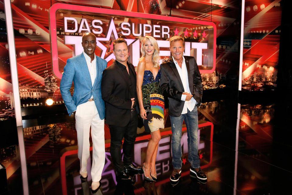 """Mit Bruce Darnell, Guido Maria Kretschmer und Dieter Bohlen bildete Gercke die Jury von """"Das Supertalent""""."""