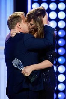 James Corden und Allison Janney