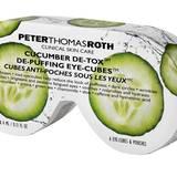 """Tiefgekühlt auf die Augenpartie – mit abschwellender Wirkung: """"Cucumber De-Tox – De-Puffing Eye-Cubes"""" von Peter Thomas Roth, 6x4 ml, ca. 65 Euro"""