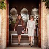 2. März 2014: Königin Rania empfängt Daniela Schadt, die Frau von Bundespräsident Joachim Gauck, in Jordanien.
