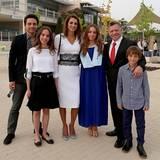 Juni 2014  Die jordanische Königsfamilie feiert Prinzessin Imans Schulabschluss .
