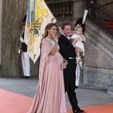 Prinzessin Madeleine von Schweden hat Ehemann Chris O'Neill und Töchterchen Leonore im Schlepptau.