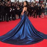 Schauspielerin Mallika Sherawat scheint sich auf dem roten Teppich sehr wohl zu fühlen und zieht alle Blicke auf sich.