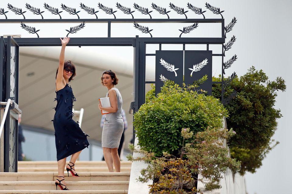 Sophie Marceau kommt beim Fototermin vor der großen Eröffnung an.