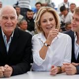 """Barbet Schröder, Marthe Keller und Max Riemelt stellen den Film """"Amnesia"""" vor."""