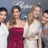"""Bei der """"Chopard Gold Party"""" laufen jede Menge Supermodels über den roten Teppich. Mit dabei Adriana Lima und Toni Garrn."""