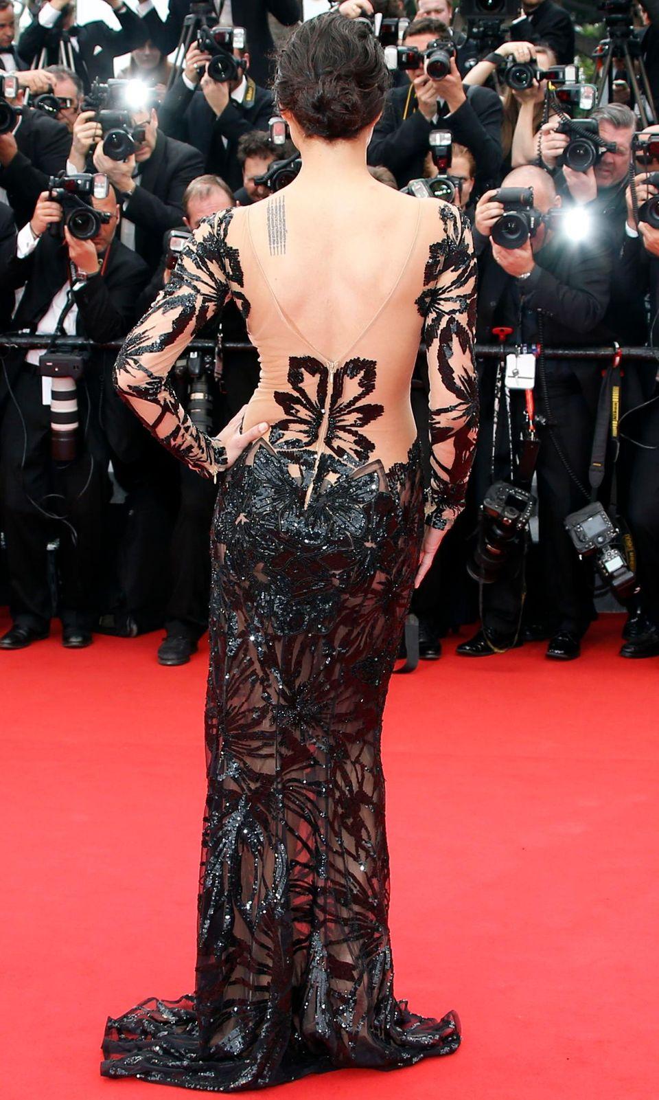 """Michelle Rodriguez ist zur """"Mad Max: Fury Road""""-Vorstellung gekommen."""