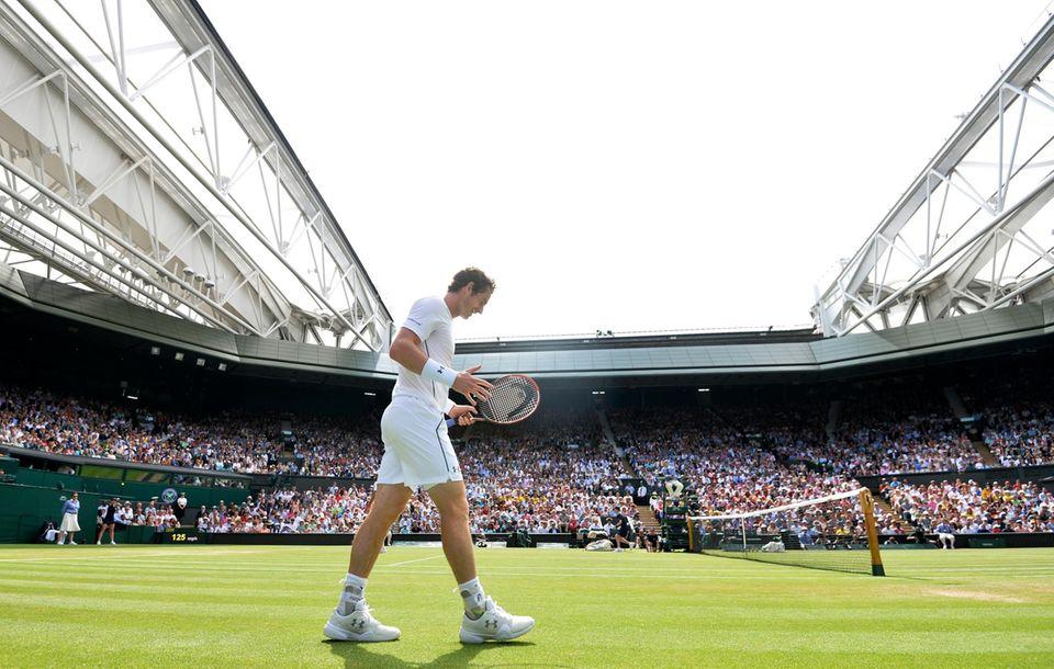 Andy Murray verliert einen Punkt.