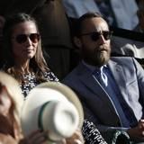 Wimbledon 2015: Gemeinsam mit ihrem Bruder James schaute sie sich am Donnerstag das Halbfinale der Frauen an: die Spanierin Garbine Muguruza gewann schließlich gegen Agnieszka Radwanska aus Polen.