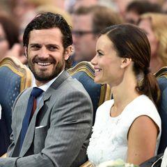 Zurück aus den Flitterwochen zeigen sich Prinz Carl Philip und seine Frau Prinzessin Sofia bestens gelaunt.