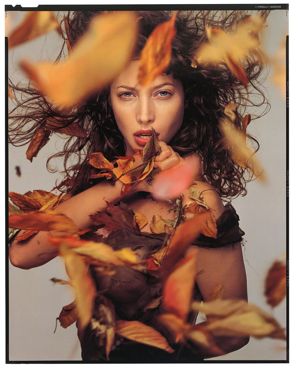 Oktober 1995: Christy Turlington fotografiert von Richard Avedon