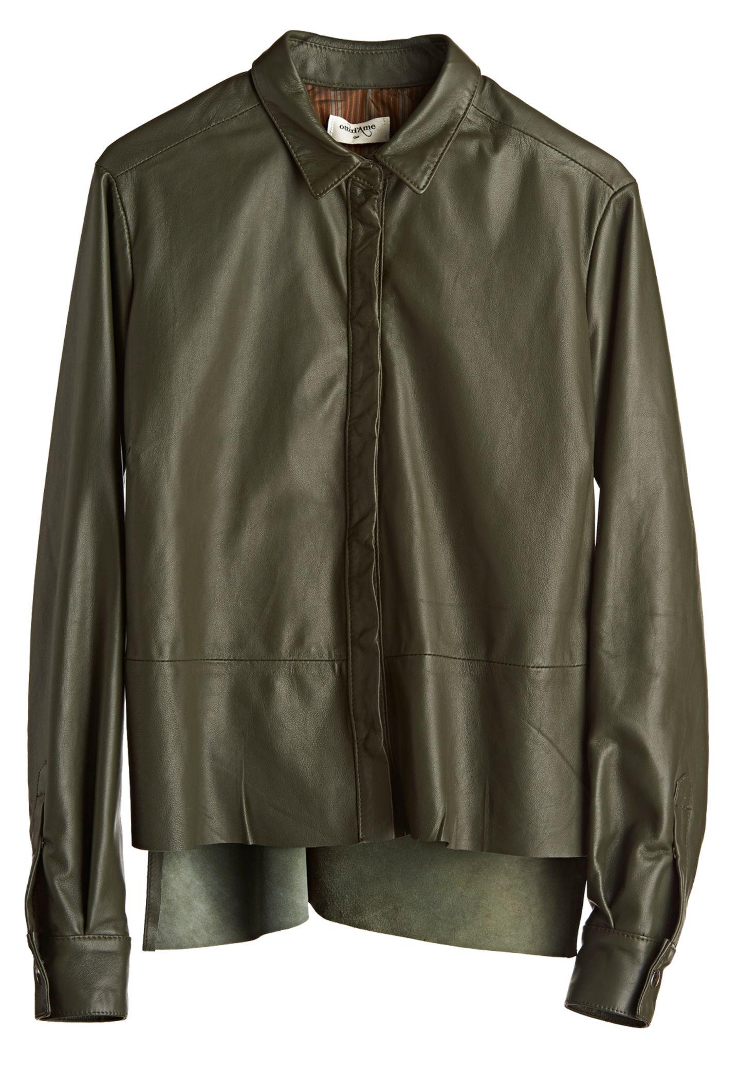 """Kleines """"Olive-ting"""" gefällig? Schön glattes Shirt von Otto d'Ame, ca. 230 Euro"""