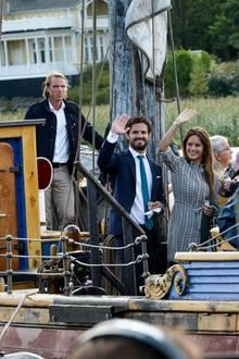 Per Boot geht es zum Picassoudden in der Gemeinde Kristinehamn.