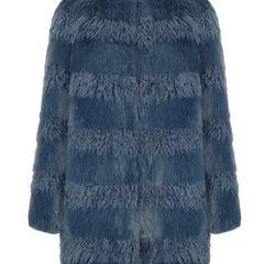 Machen Sie ruhig mal blau! Fake-Fur-Mantel von Shrimps, ca. 860 Euro