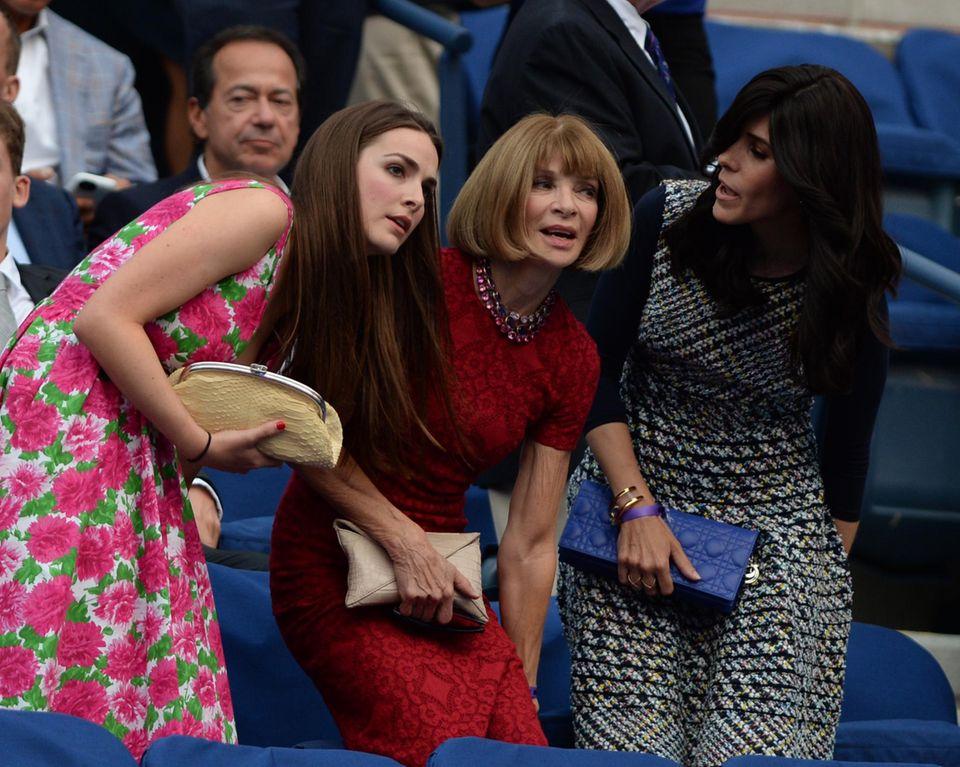 Anna Wintour darf bei den US Open als Zuschauerin natürlich nicht fehlen.