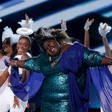 "Gabourey Sidibe performt ""You're So Beautiful""."
