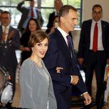 Königin Letizia und König Felipe werden im Freedom Tower im Miami Dade College in Miami empfangen.